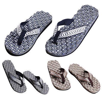 Mens Comfortable Massage Shoes Sandals Male Slipper Indoor & Outdoor Flip-flops