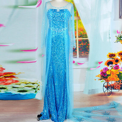 Schneekönigin Prinzessin Elsa Kostüm Cosplay Kleid Party  (Kids Frozen Kostüme)