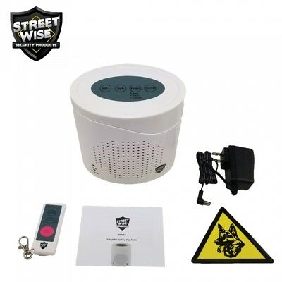 Streetwise K9 Barking Dog Alarm with remote and AC Aaptor