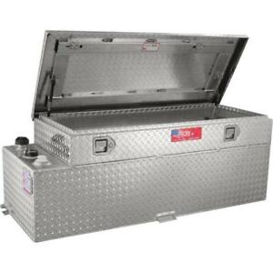 RDS Aluminum Auxiliary Fuel Tank Toolbox Combo — 51 Gallon, Rect