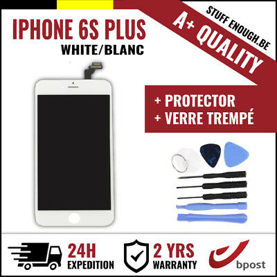 A+ LCD TOUCH SCREEN SCHERM ÉCRAN WHITE BLANC & VERRE TREMPÉ+TOOLS IPHONE 6S PLUS