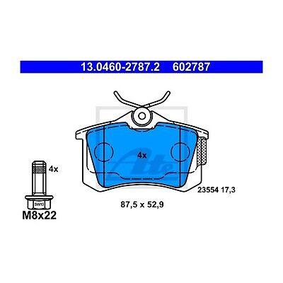 ATE 13.0460-2787.2 Bremsbelagsatz, Scheibenbremse  Hinten für Seat Leon Skoda
