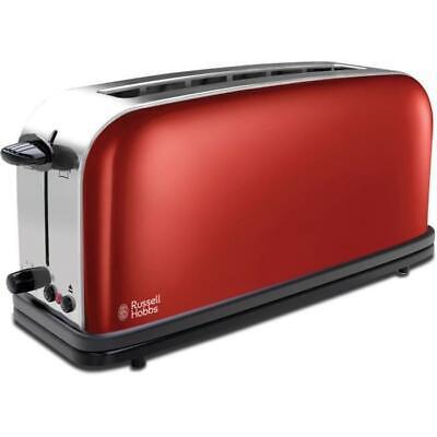 Russell Hobbs 21391-56 Toasterfarben Toaster, spezieller Baguette-Steckplatz Rot