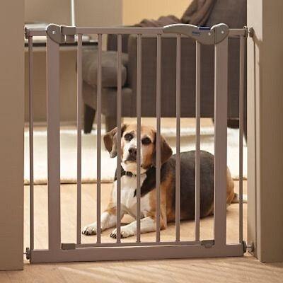 Divisorio cancello barriera con porta per cani,gatti,conigli L75-84 cm x H 75