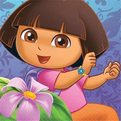 Dora Flower Adventure Beverage Dessert Cake Napkins 16 Ct Party Supplies - Dora Party Supplies