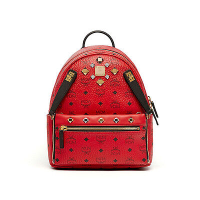 MCM Dual Stark Backpack MMK6AVE79RU Ruby Red Color