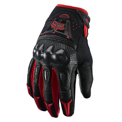 Racing Bomber Motorcycle/ATV Bike Gloves Black / White M/L/XL Fox ()