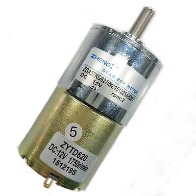 Zga37rg Dc 12v 2rpm Cylinder Permanent Magnet Dc Gear Motor Diy Robot