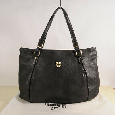 AUTHENTIC MCM Leather Shoulder  Bag + Dust Bag