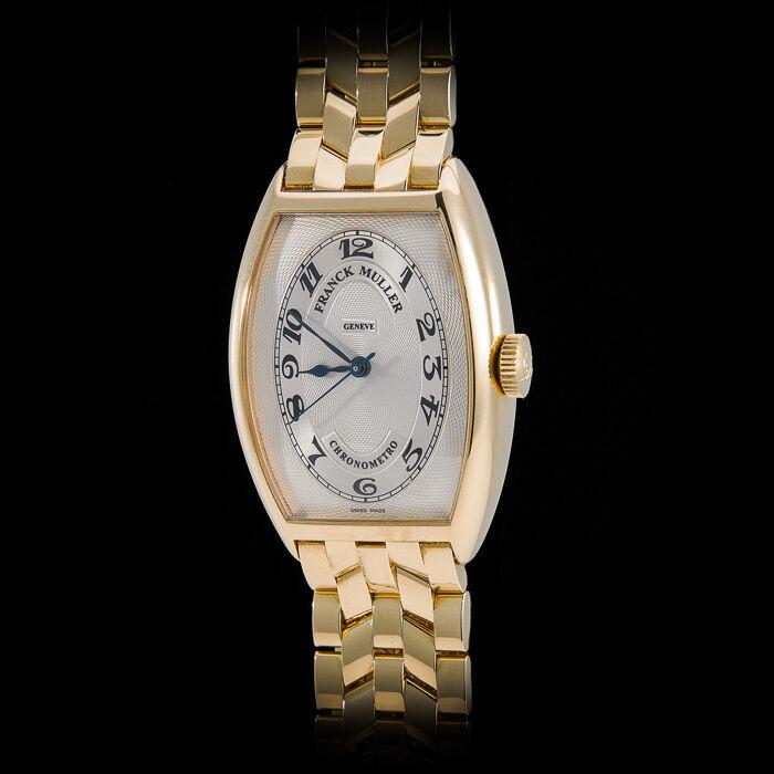 Franck Muller 18K YG 5850 Chronometro Chronometer YG Bracelet Stunning Guilloche - watch picture 1