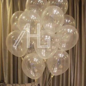 100pcs Clear Transparent Balloons Birthday Wedding Party Decor