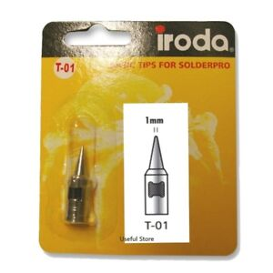 IRODA T-01 - 1mm Conical Soldering Tip for Solderpro Pro 50 / Kit
