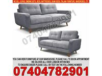 BRAND NEW Chenille Fabric 3 and 2 Seater Sofa Suite on Sale RRP£999