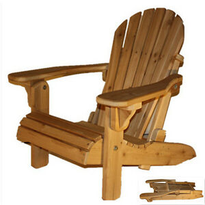 Cedar folding Adirondack chair for cottage, front porch, patio