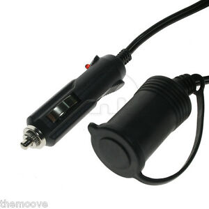 2x 3M DC 12V Power Extension Lead Cable Car Cigar Cigarette Lighter Adaptor AU