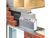 Lintels cavity / eave lintels/ external wall / 900mm to 2700mm / 50mm/ 100mm cavitys