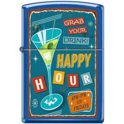 Zippo Lighter - Happy Hour Blue Matte - 854773