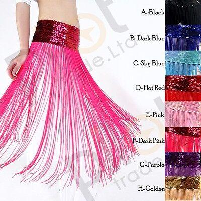 Belly Dance Dancing Tassel Belt - New Belly Dance Costume Tribal Tassel Hip Scarf Wrap Festival Fringes Belt Skirt