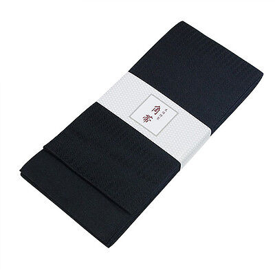Japanese Traditional KAKU OBI Kimono Black Belt Polyester Made in JAPAN for sale  Shipping to United States