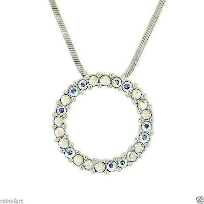 Circle Of Love Made With Swarovski Crystal Wedding AB Pendant Necklace Jewelry S Circle Of Love Crystal