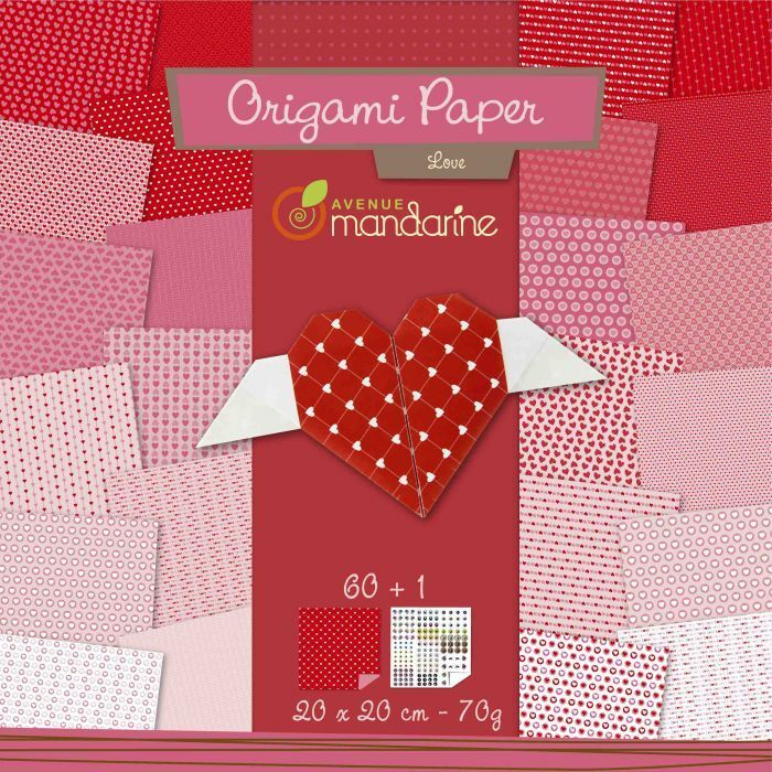 60 Blatt Origamipapier 20x20 cm verschiedene Muster Origami Bastelpapier Flower