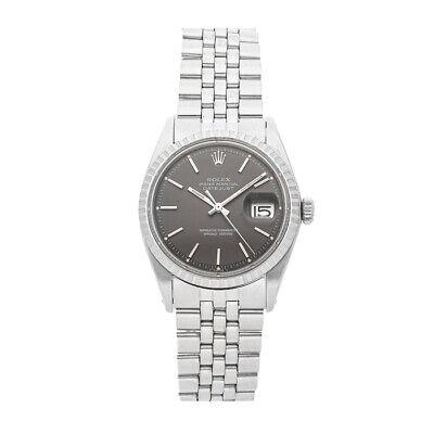 Rolex Datejust Auto 36mm Steel Engine Turn Mens Jubilee Bracelet Watch 1603