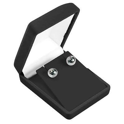 12 x Black Velvet  Ring Earring Presentation Gift Box 5 x 4.5 x 3.5cm