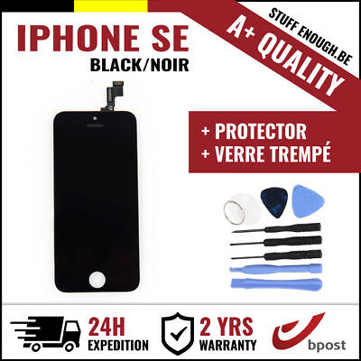 A+ LCD SCREEN SCHERM ÉCRAN BLACK NOIR & VERRE TREMPÉ +TOOLS FOR IPHONE SE/5S