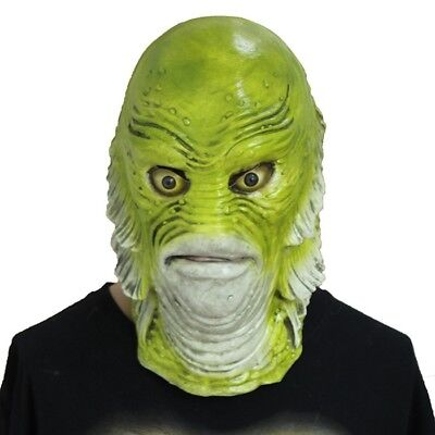 Creature from the Black Lagoon Fish monster Mask Full face Cosplay Costume Props](The Creature From The Black Lagoon Costume)