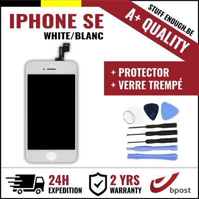 A+ LCD SCREEN SCHERM ÉCRAN WHITE BLANC & VERRE TREMPÉ+TOOLS FOR IPHONE SE/5S