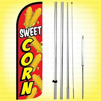 Sweet Corn - Windless Swooper Flag Kit 15 Feather Banner Sign Rq-h
