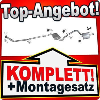 Auspuff AUDI A4 (B6) 1.6 Stufenheck / Kombi Avant +Rohr Vorne Auspuffanlage P83