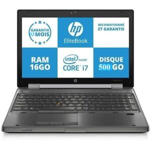 Laptop,Station de travail, HP 8570W, i7 2.70GHZ,16GB,500GB, W10