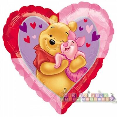 WINNIE THE POOH HEART SHAPED FOIL MYLAR BALLOON ~ Birthday Party Supplies Piglet](Winnie The Pooh Mylar Balloons)