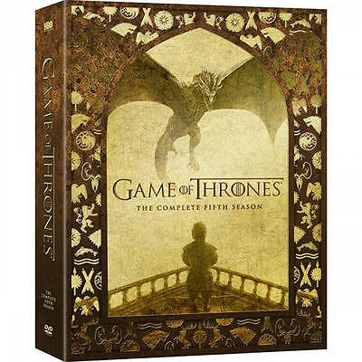 Game Of Thrones  Complete Fifth Season 5  Dvd 5 Disc 2016  Free Fast Shipping