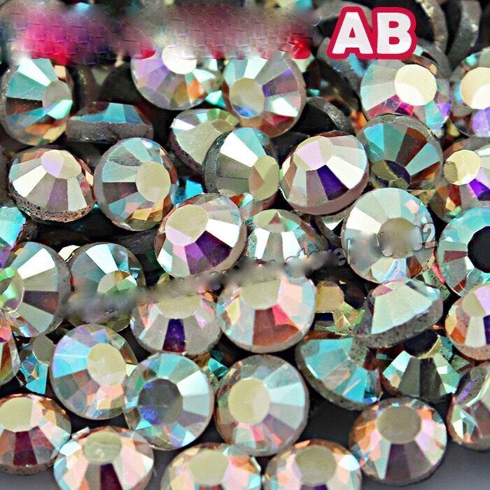 Glass Crystal Dmc Ab Hotfix Flatback Rhinestones Ss12, Ss16, Ss20 Diy Glitters
