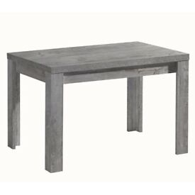 Extendable Dining Table by Alpen Home (Seats up to 6) Concrete Design (Manufactureed Wood)