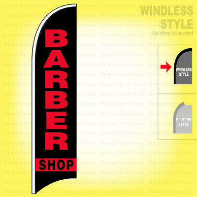 Barber Shop - Windless Swooper Flag 2.5x11.5 Ft Feather Banner Sign Kb