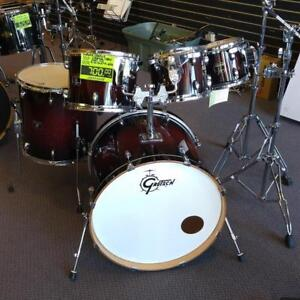 "Batterie / Drums Gretsch Catalina Maple Shell Kit 8-10-12-16ft-22"" BD Cherry Wood Fade usagé-used"