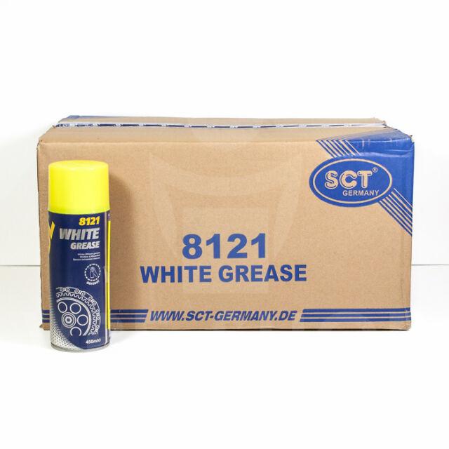 (4,81EUR/L) 24x450ml MANNOL 8121 SPRÜHFETT WEISS WHITE GREASE FETTSPRAY LITHIUM
