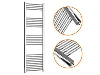 Towel Rail Straight Chrome 1600 x 500mm with heat output of 1640 BTUs
