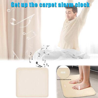 Stand On Pressure Sensitive Battery Smart Alarm Clock Mat Floor Rug LED Time CA