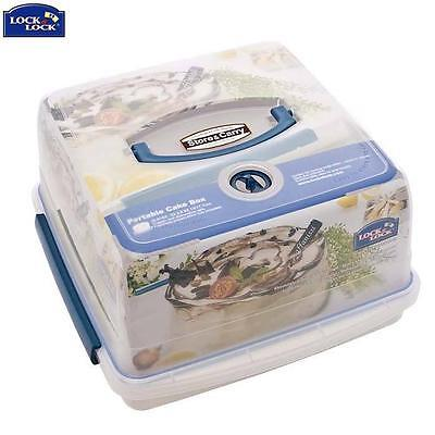Lock And Lock Cake Box With Freshness Tray 12.6L Food Storage Kitchen Home New