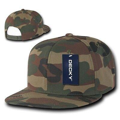 Woodland Forest  Camouflage Flat Bill Snapback Camo Baseball Cap Caps Hat Hats Baseball Caps Woodland Camouflage Cap
