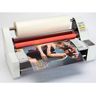 V350 Laminating Machine Digital Roll 13 Laminator Four Rollers Hot Cold