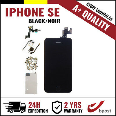 A+ LCD TOUCH SCREEN VITRE TACTILE SCHERM ÉCRAN ASSEMBLY BLACK NOIR FOR IPHONE SE