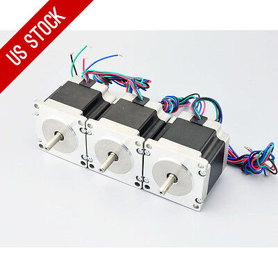 Us Ship 3pcs Nema 23 Cnc Stepper Motor 179oz.in1.26nm Bipolar Diy Hobby Cnc