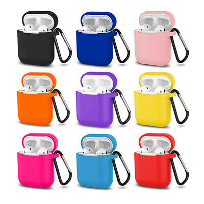 AirPods Silicone Case Protective Cover +KeyChain for Apple AirPod Charging Case