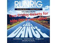 FREE 2 runrig tickets for Friday 17th