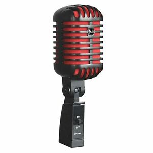 njs retro style microphone njs293 large diaphragm dynamic microphone black red ebay. Black Bedroom Furniture Sets. Home Design Ideas